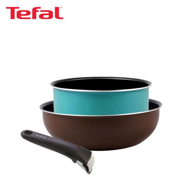 테팔 매직핸즈 트라이미 단품 멀티팬 24cm+냄비 20cm+손잡이 TFC-TRMHW4P0H